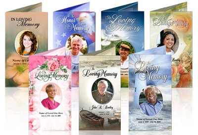 In Loving Memory Cards – Free Printable Obituary Program Template