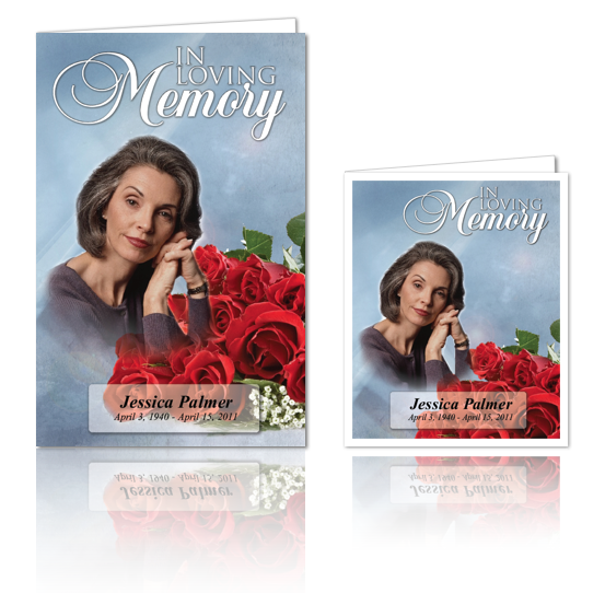 Funeral Programs 1 Up 8 5 X 11 Funeral Obituary Templates