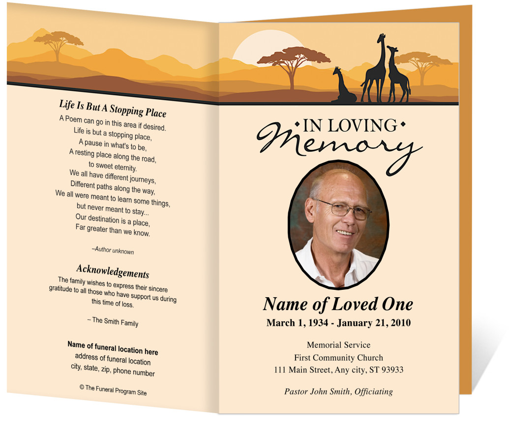 Free Funeral Obituaries – Free Memorial Program Template