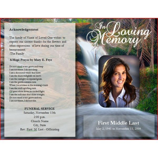 Six Resources To Find Free Funeral Program Templates To Download. Funeral  Program Template  Free Printable Funeral Programs Templates