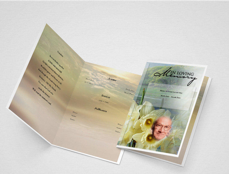 Bloom funeral program template