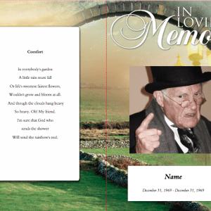 Comforter Funeral Program Template