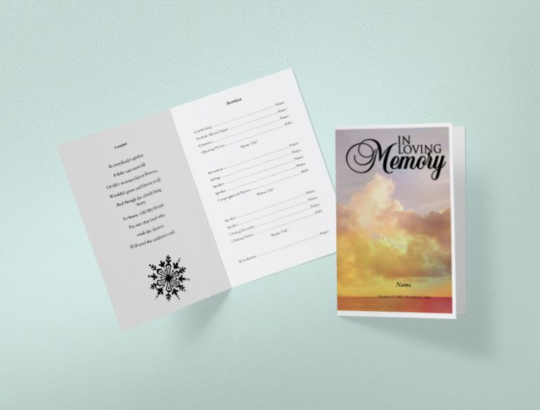 Main Demise Funeral Program Template