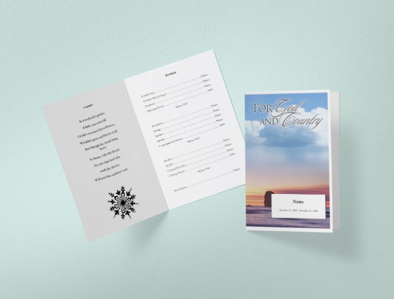 Main Aphorism Funeral Program Template