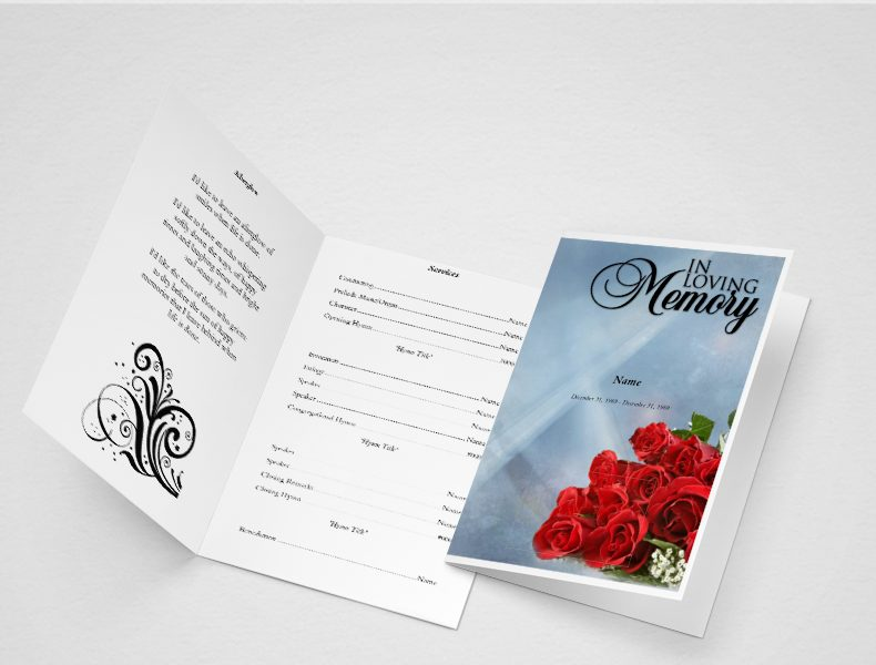 Crossing The Bar Funeral Program Template