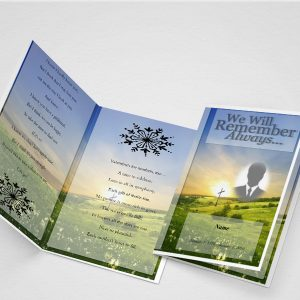 Pink Lack Funeral Program Template