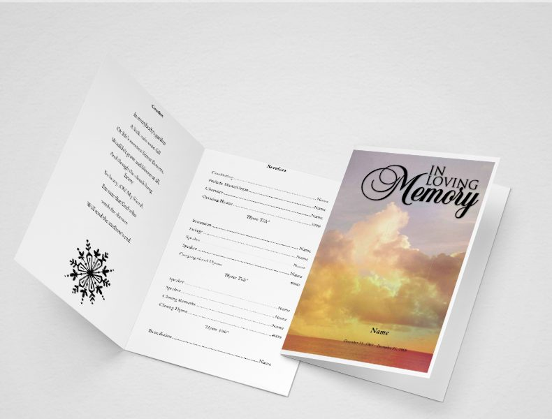 Demise Funeral Program Template
