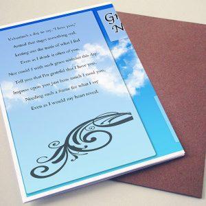 Back Sky Blue Funeral Program Template