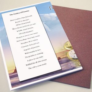 Back Garden of Promise Funeral Program Template
