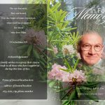 Front Creeper Funeral Program Template
