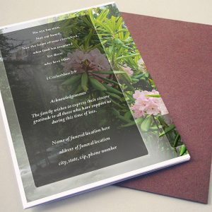 Back Creeper Funeral Program Template