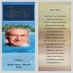 Front Funeral bookmarks