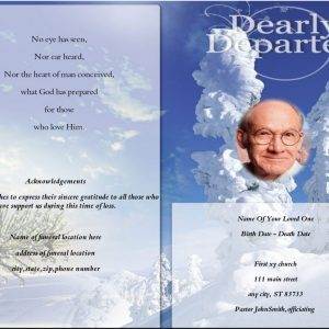Front Memorandum Funeral Program Template