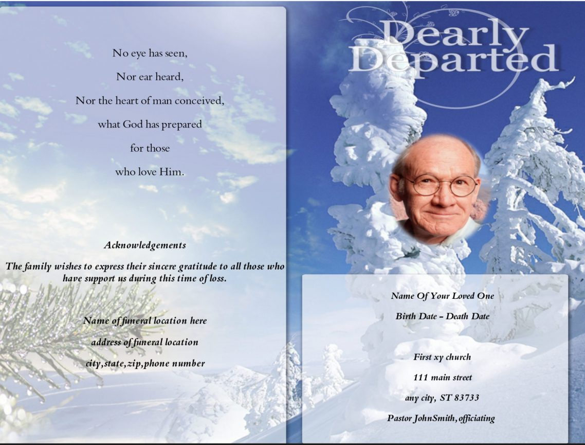 memorandum funeral program template funeral program template. Black Bedroom Furniture Sets. Home Design Ideas