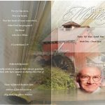 Back peace View Funeral Program Template