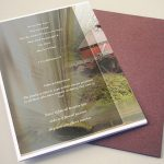 Front peace View Funeral Program Template