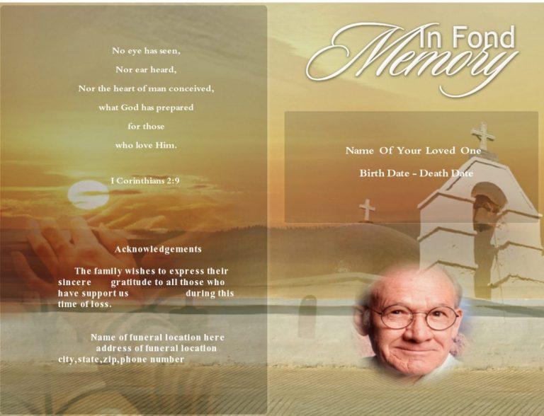 Front Plushy Funeral Program Template