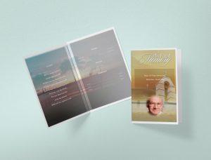 Side Plushy Funeral Program Template