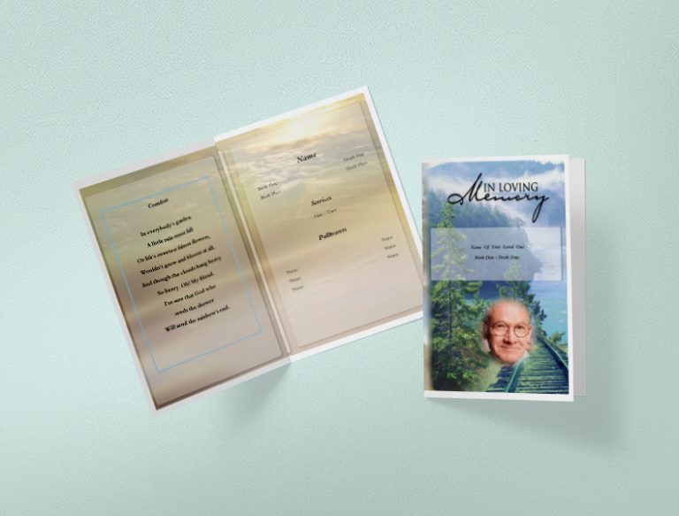Tree Branch Funeral Program Template