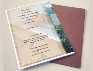 Tree Branch Funeral Program Template