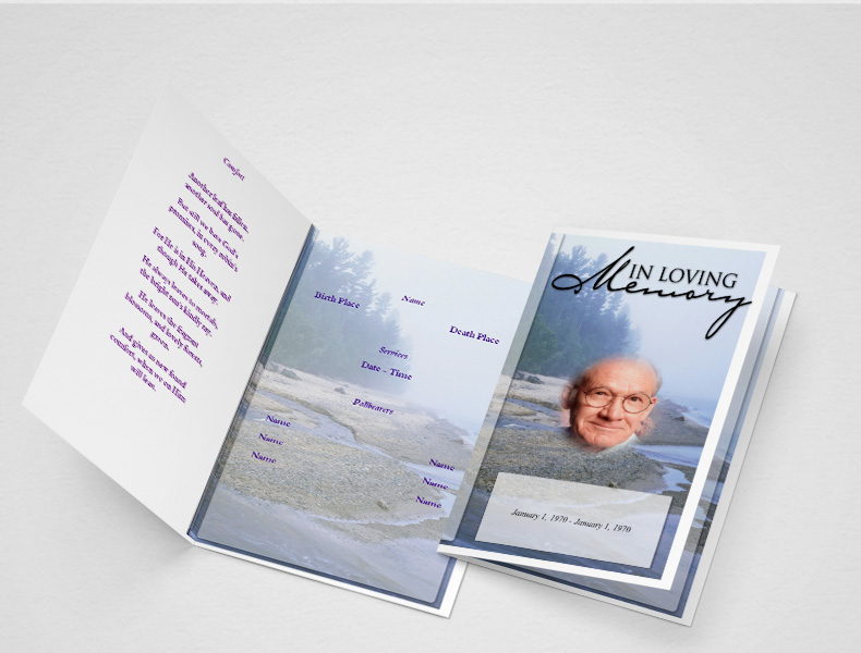 Catholic Funeral Programs  Funeral Program Template