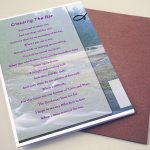 Back Afterglow Funeral Program Template