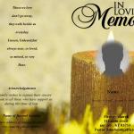Front Blue Sky Funeral Program Template