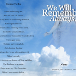 Front Crossing Funeral Program Template