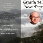 Front Darker Funeral Program Template