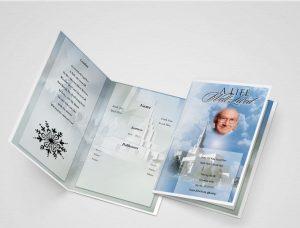 How do I make a funeral brochure