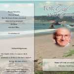 Elegant Funeral Program Template