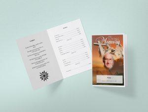 write in funeral program