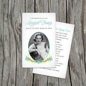 funeral prayer cards template