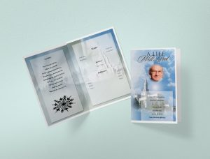 Trifold funeral program