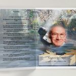 Front Evergreen Funeral Program Template