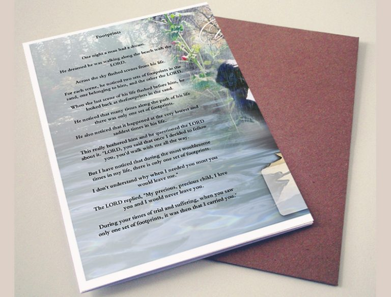 Back Evergreen Funeral Program Template