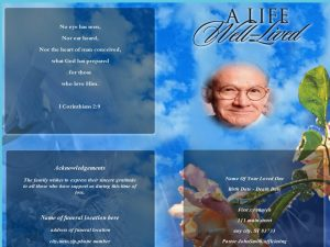 Sky High Funeral Program Full