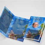 Sky High Funeral Program Inner