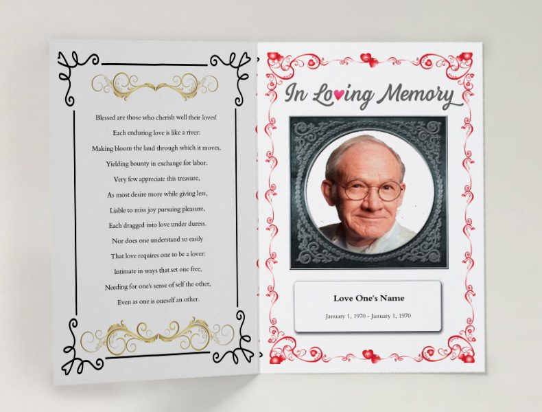 Free Funeral Program Template Free Funeral Templates For Download - Free printable funeral program template