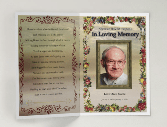 free funeral program template - 75 free funeral program template self printable funeral