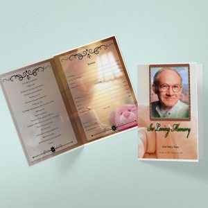 Infant Funeral Program Template