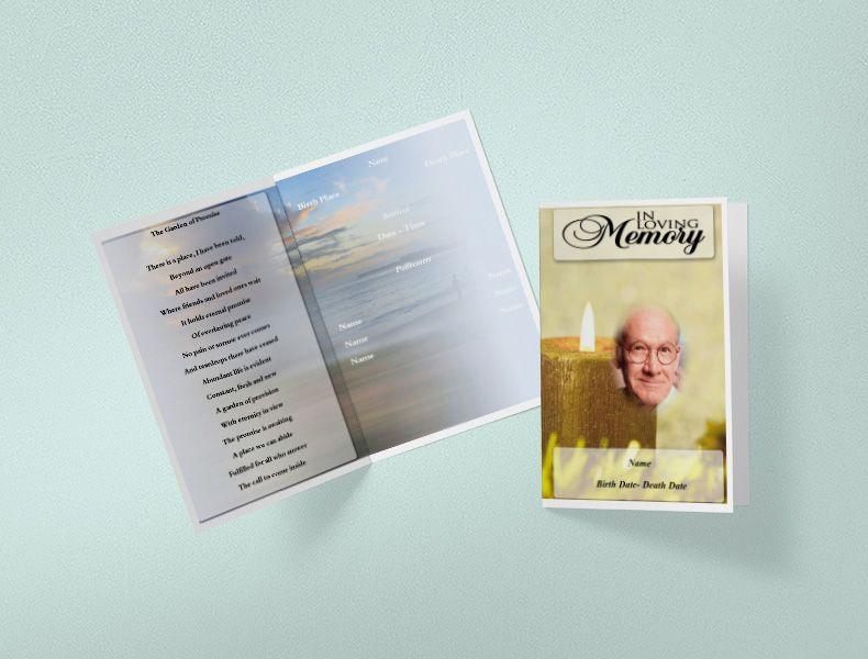 75+ Free Funeral Program Template | Self Printable Funeral Templates