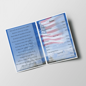 U.S Soldier Funeral Program Template