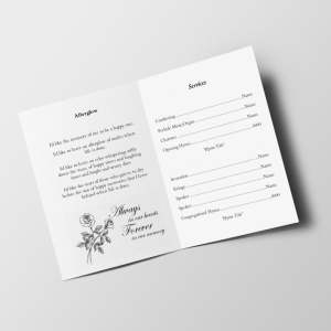 royal blue free funeral template