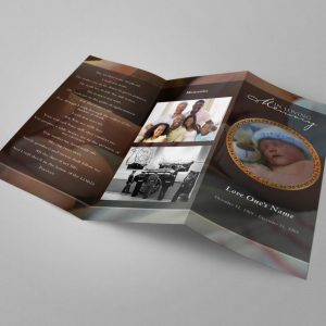 Infant Trifold Funeral Program Template