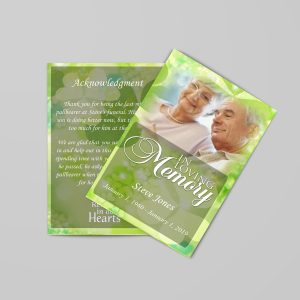 Celtic irish green funeral program template stylish
