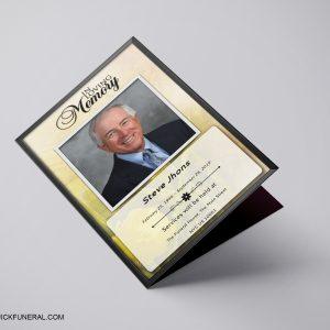 Memorial Funeral Program Template Booklet Front