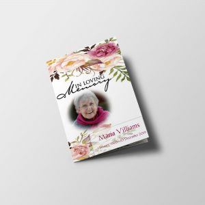 floral garden funeral program template