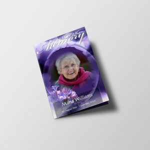 Purple Bloom Funeral Program Template