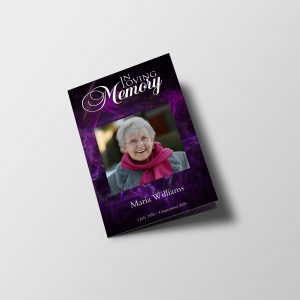 Purple Funeral Program Template